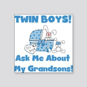 """twinsgrandsons Square Sticker 3"""" x 3"""""""