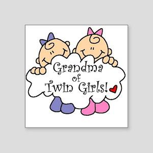"grandmatwingirlsimget Square Sticker 3"" x 3"""