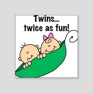 "twinstwiceasfun23 Square Sticker 3"" x 3"""