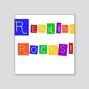 "readingrocksshirt Square Sticker 3"" x 3"""