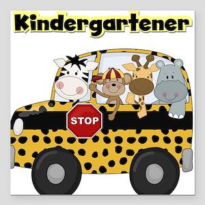 """schoolkindergartener Square Car Magnet 3"""" x 3"""""""