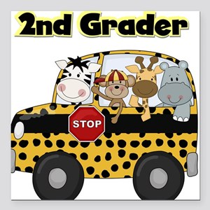 "school2ndgrader Square Car Magnet 3"" x 3"""