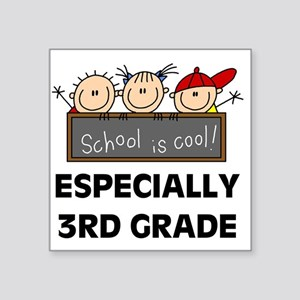 "SCHOOLCOOL3RD Square Sticker 3"" x 3"""