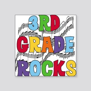 "MUSICAL3RDGRADE Square Sticker 3"" x 3"""