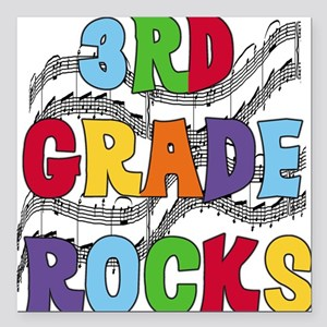 "MUSICAL3RDGRADE Square Car Magnet 3"" x 3"""