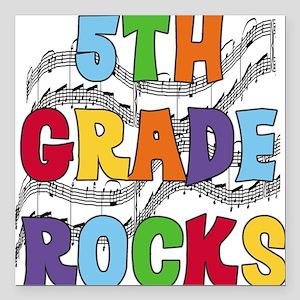 """MUSICAL5THGRADE Square Car Magnet 3"""" x 3"""""""