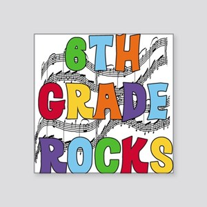 "MUSICAL6THGRADE Square Sticker 3"" x 3"""