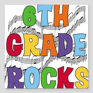 """MUSICAL6THGRADE Square Car Magnet 3"""" x 3"""""""