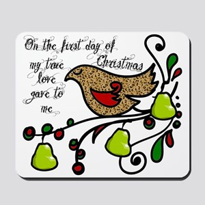 Partridge in a pear tree Mousepad