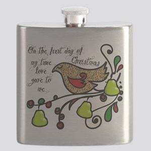 Partridge in a pear tree Flask