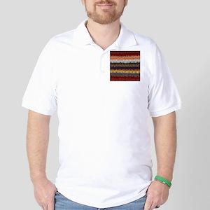 Knitting Stripes Golf Shirt