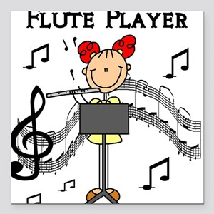 "fluteplayertee Square Car Magnet 3"" x 3"""