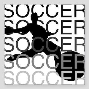"""soccerscocer Square Car Magnet 3"""" x 3"""""""