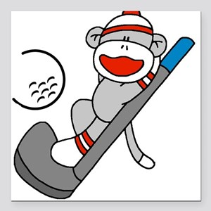 "sockmonkeygolftee Square Car Magnet 3"" x 3"""