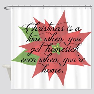 Homesick at Christmas Shower Curtain