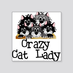 """crazycatlady Square Sticker 3"""" x 3"""""""