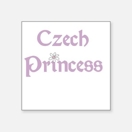 "czechprincess.png Square Sticker 3"" x 3"""