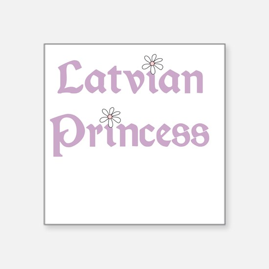 "latvianprincess.png Square Sticker 3"" x 3"""