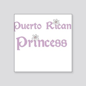 "puertoricanprincess Square Sticker 3"" x 3"""