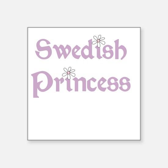 "Swedish Princess Square Sticker 3"" x 3"""