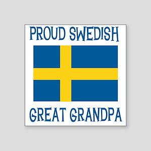 "SWEDISHGGRANDPA Square Sticker 3"" x 3"""