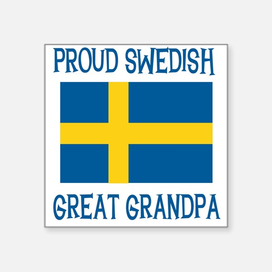 "SWEDISHGGRANDPA.png Square Sticker 3"" x 3"""
