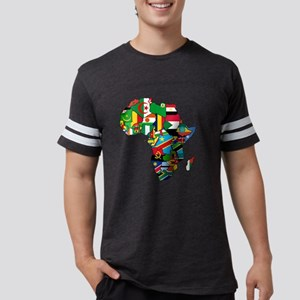 Flag Map of Africa Mens Football Shirt