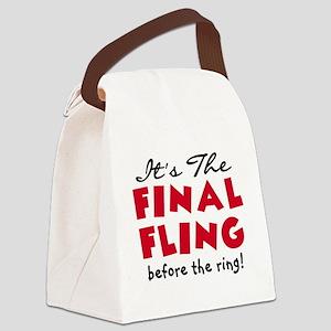Final Fling Bachelorette Canvas Lunch Bag