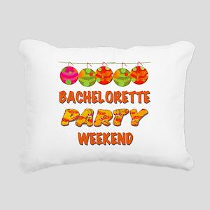 Tropical Bachelorette We Rectangular Canvas Pillow