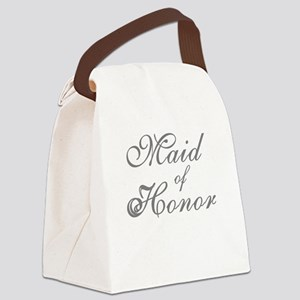 sheergraymaidhonor Canvas Lunch Bag