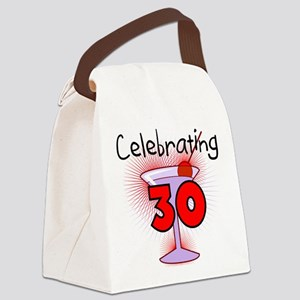CELEBRATINGBDAY30 Canvas Lunch Bag