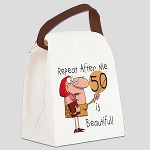50isbeautiful Canvas Lunch Bag