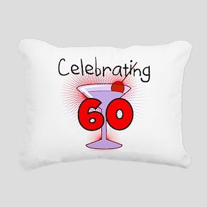 CELEBRATINGBDAY60 Rectangular Canvas Pillow
