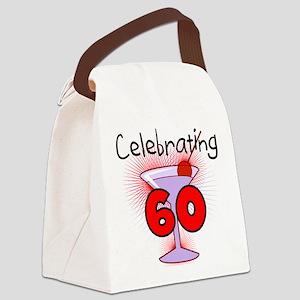 CELEBRATINGBDAY60 Canvas Lunch Bag