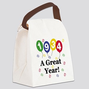 1934birthdayballoon Canvas Lunch Bag