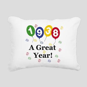 1938birthdayballoon Rectangular Canvas Pillow