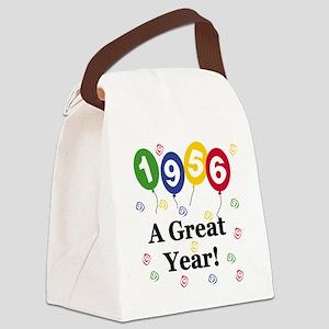 1956birthdayballoon Canvas Lunch Bag