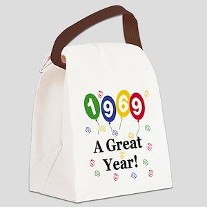 1969birthdayballoon Canvas Lunch Bag