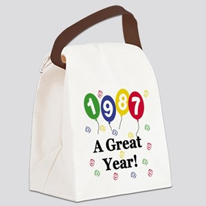 1987YEAR Canvas Lunch Bag