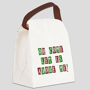 Come Let Us Adore Me Canvas Lunch Bag