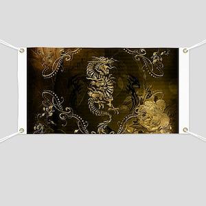 Wonderful golden chinese dragon Banner