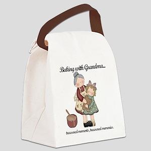 BAKINGWITHGRANDMAtee Canvas Lunch Bag