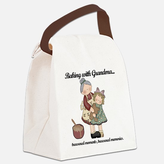 BAKINGWITHGRANDMAtee.png Canvas Lunch Bag