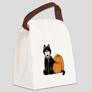 CATPUMPKINHALLOWE Canvas Lunch Bag