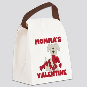 Dog Momma's Valentine Canvas Lunch Bag