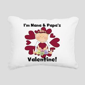 Girl Nana Papa's Valenti Rectangular Canvas Pillow