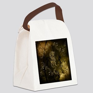 Wonderful golden chinese dragon Canvas Lunch Bag