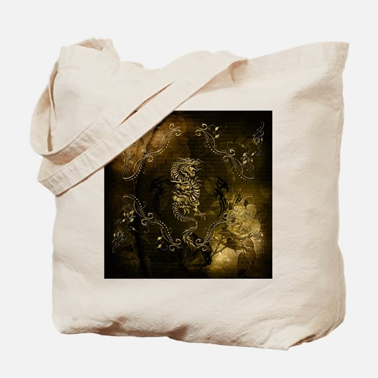 Wonderful golden chinese dragon Tote Bag