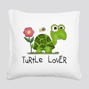 turtleloverr Square Canvas Pillow