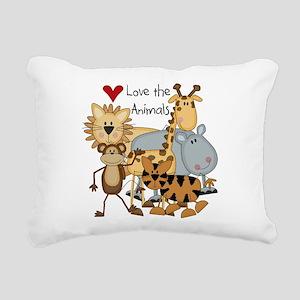 LOVETHEANIMALS Rectangular Canvas Pillow